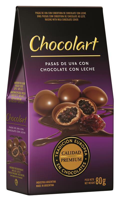 Graines de raisin enrobées de chocolat au lait