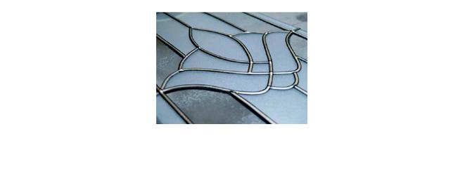 DECORATION GLASS USING STRIPS - null