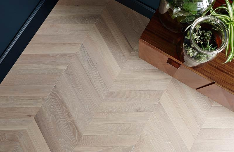 Chevron flooring - Chevron flooring, width 70, 120 and 160mm