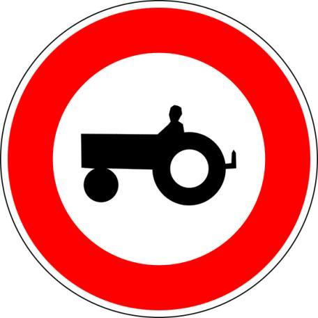 Panneau B9d Accès Interdit Aux Véhicules Agricoles À Moteur - Balisage De Chantier Et Panneaux Routiers