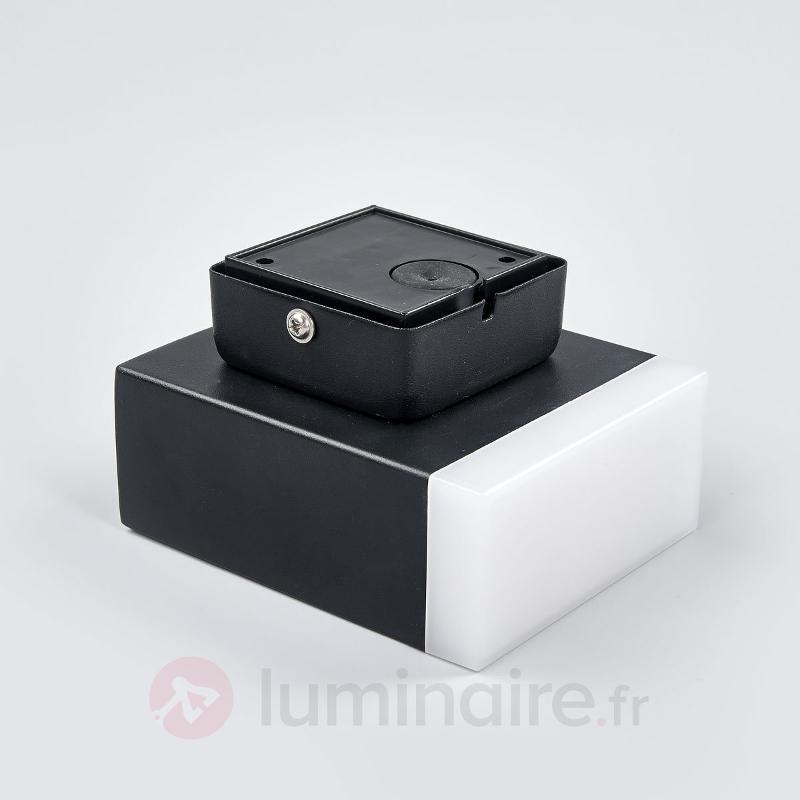 Applique d'extérieur LED moderne Aya en noir - Appliques d'extérieur LED