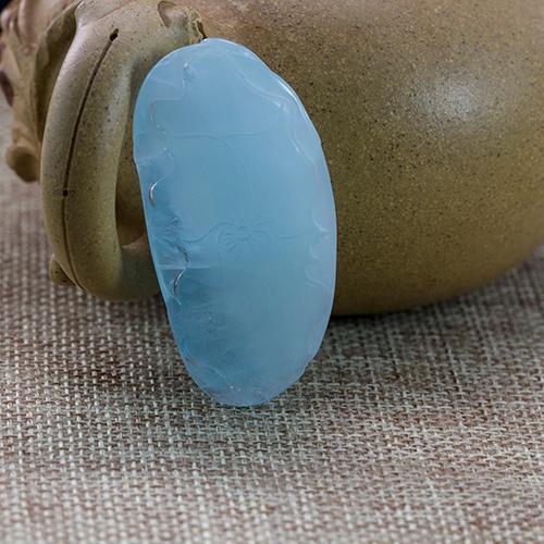 Natural aquamarine piezas talladas en forma de pájaro  -