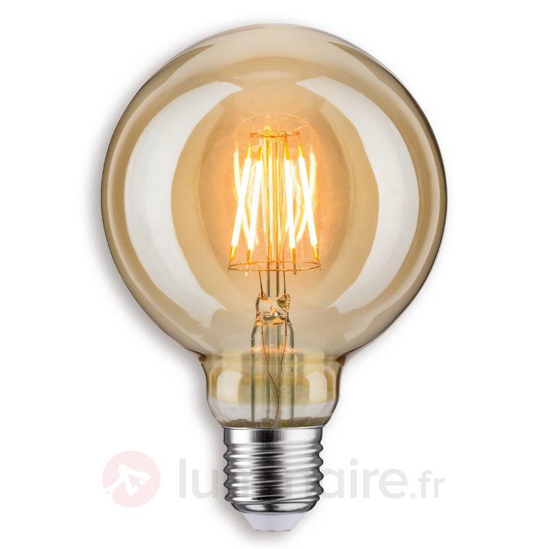 Ampoule globe LED E27 G95, dorée - Ampoules LED E27