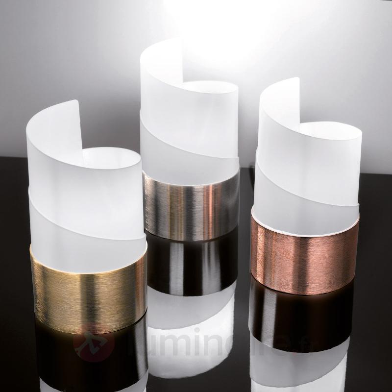 Lampe à poser ronde Caracòl aspect cuivre - Toutes les lampes à poser