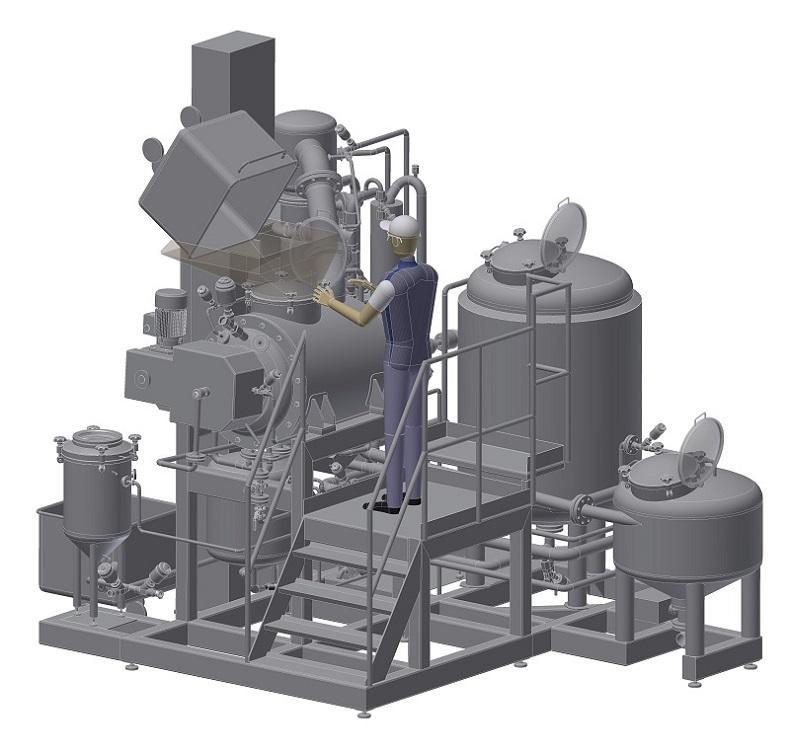 Sistemas de cocção por lotes para processamento de frutos, - legumes, molhos  em versão assética