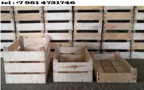Деревянный ящик из шпона - Ящик для хранения и транспортировки, фруктов, овощей, грибов