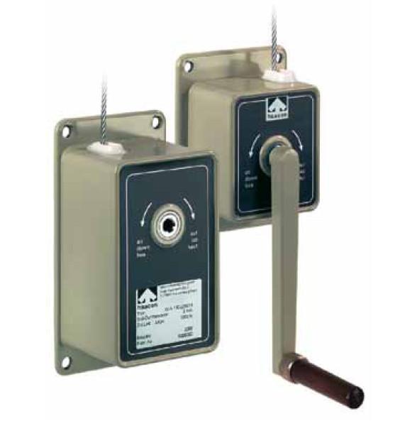 Handseilwinde WA50/100 - Kompakte Hand-Seilwinde für Lasten von 50 kg bzw. 100 kg aus Aluminium-Druckguss