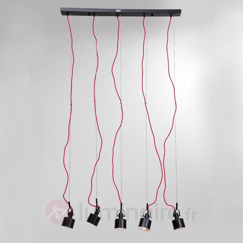 Suspension Fabbrica Dining Black 5 lampes - Suspensions design