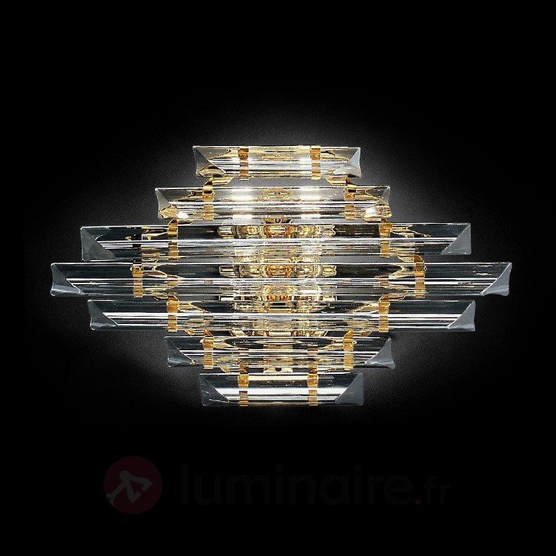 Applique en cristal Losanghe dorée - Appliques en cristal