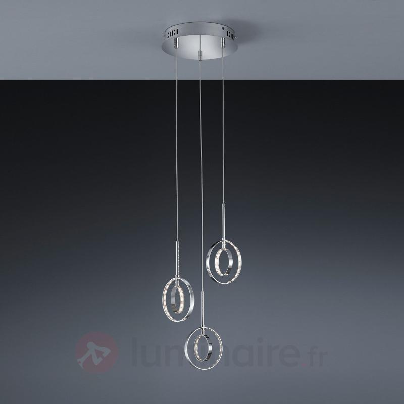 Suspension LED ronde Prater avec trois suspensions - Suspensions LED
