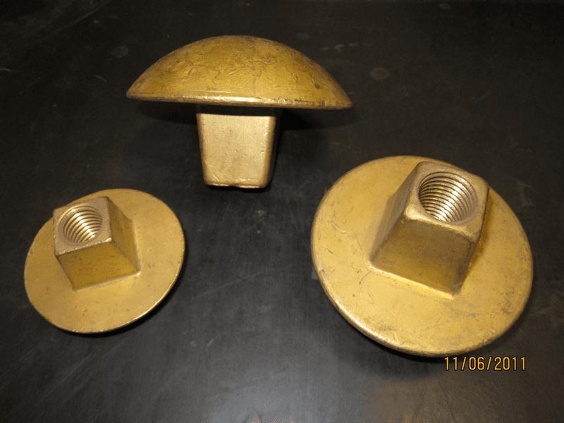 teste in bronzo per bulloni M 18, M 22, M 24 - bottali manutenzione e ricambi