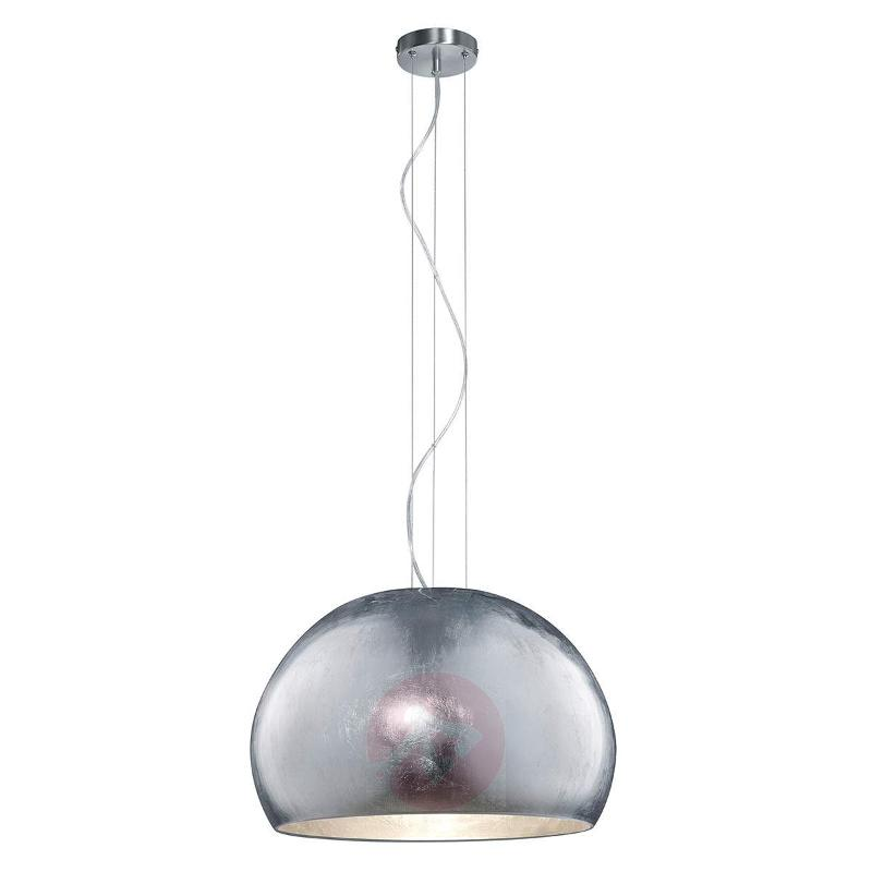 Ontario - glass pendant light in silver - Pendant Lighting