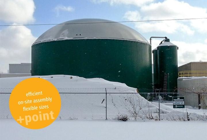Production On Site Enables Quick Construction - LIPP TANKS