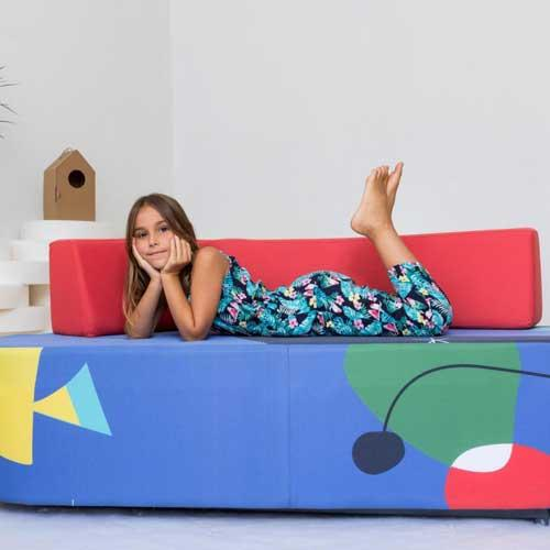 Double-seater sofa - kidney shaped - seat