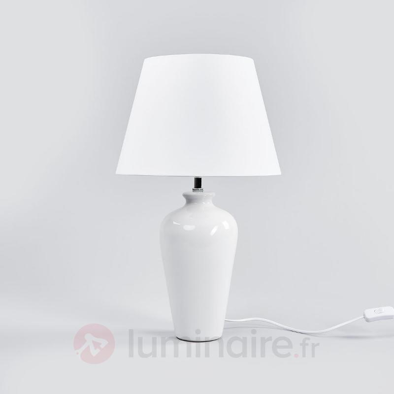Élégante lampe à poser Portland, 57 cm - Lampes à poser en tissu