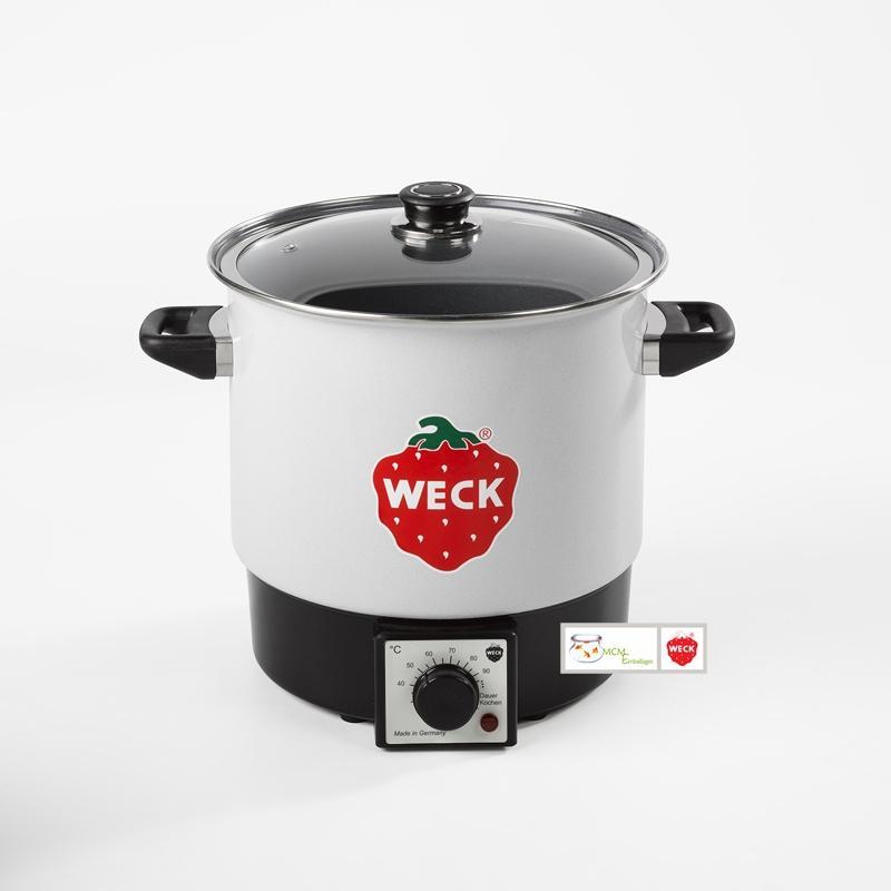 Stérilisateur ménager Emaillé blanc 10 litres WMT10 petit modèle Weck avec grill - Stérilisateurs Ménagers et extracteurs de jus WECK