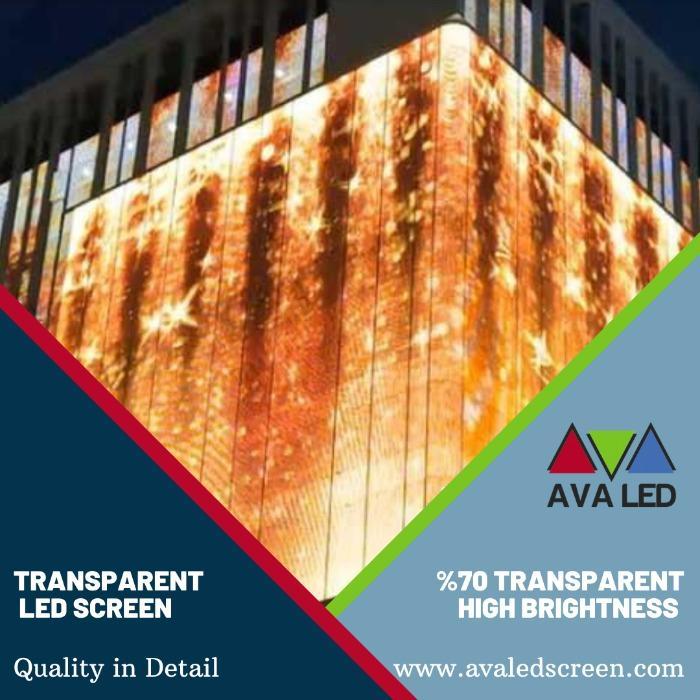 透明LED面板 - 用于建筑覆层的透明 AVA LED 显示屏