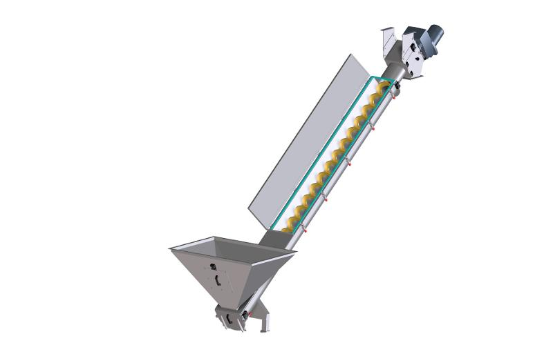 Custom spiral conveyors for recycling materials