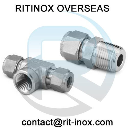 Inconel 600 Union Cross Tube Fittings -