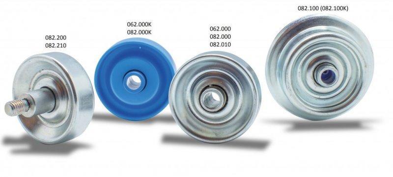 Stahlröllchen und Laufröllchen - Für den Transport von leichten Fördergütern sind Laufröllchen gut geeignet.