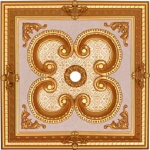 Saray Tavan - Altın Kare Saray Tavan 60*60 cm (DK60-A1)