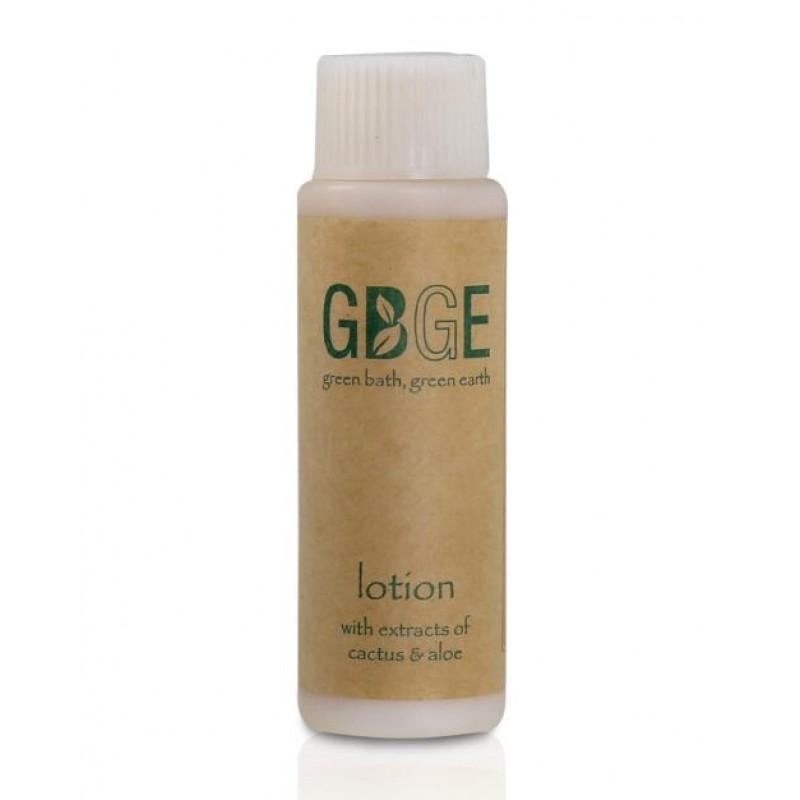 GBGE First Class ECO Collection 30ml Body Lotion - illing in biodegradable corn starch bottle, match twist cap