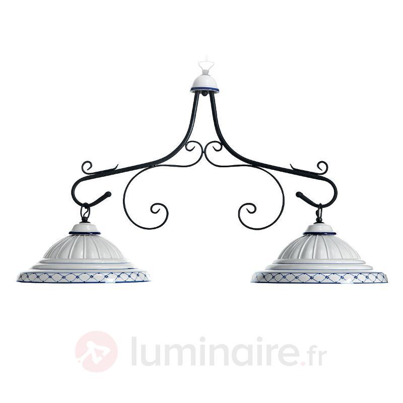 Suspension en céramique Firenze à 2 lampes - Suspensions rustiques