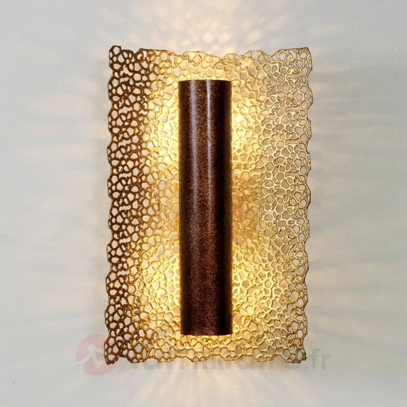 Applique exclusive Utopistico, brun et or - Appliques en laiton/dorées