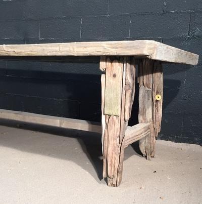 table en planche de bois flott deco nature france. Black Bedroom Furniture Sets. Home Design Ideas