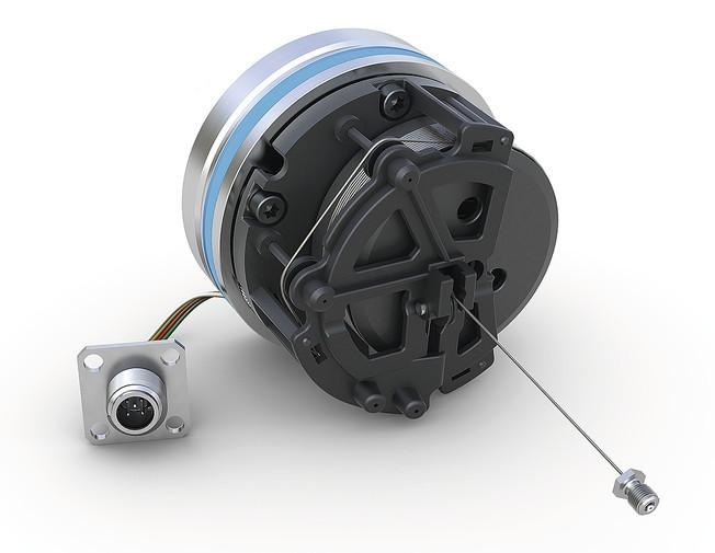 线拉编码器 SGH25 - 线拉编码器 SGH25 - 用于液压缸的位置传感器测量长度最大达 2500 mm