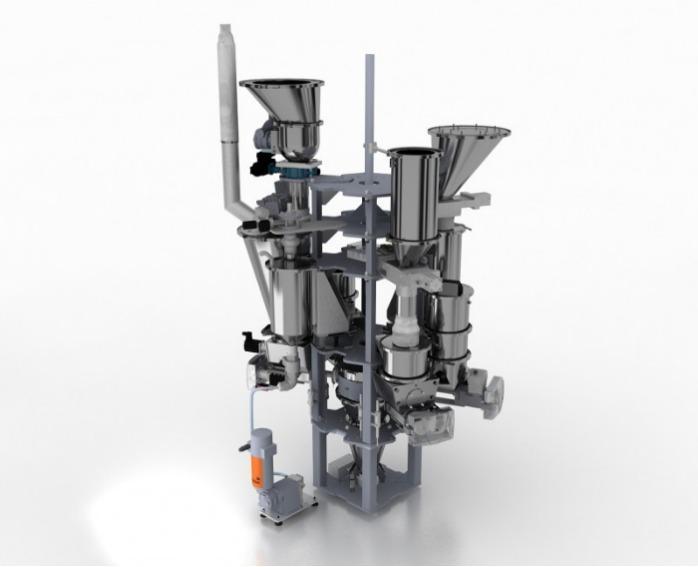 Unidad dosificación gravimétrica y volumétrica - SPECTROPLUS - Dosificación y mezcla sincrónica gravimétrica y volumétrica, procesos continuos