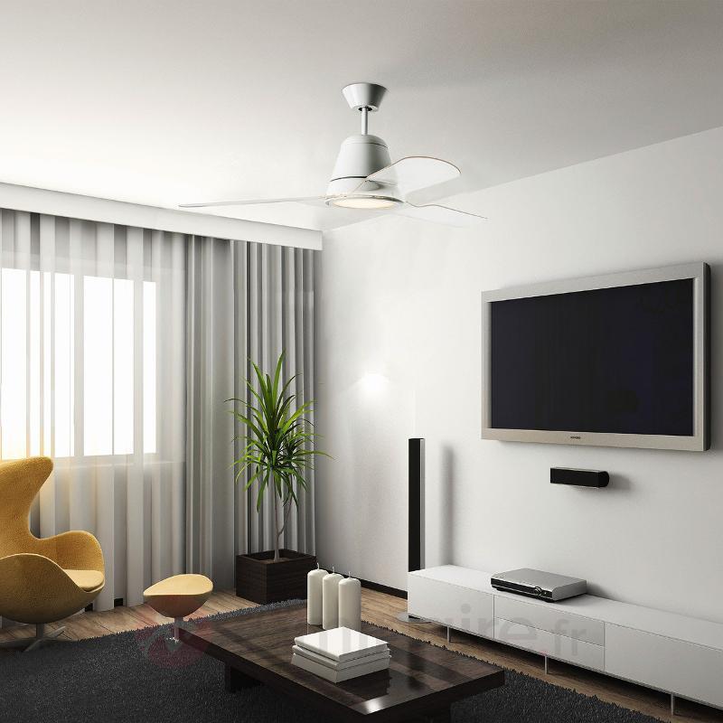 Hélices transparentes - Ventil. de plafond Tiga - Ventilateurs de plafond modernes