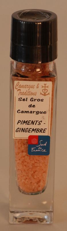 MOULIN RECHARGEABLE - SEL GROS DE CAMARGUE - PIMENTS &... - Epicerie salée