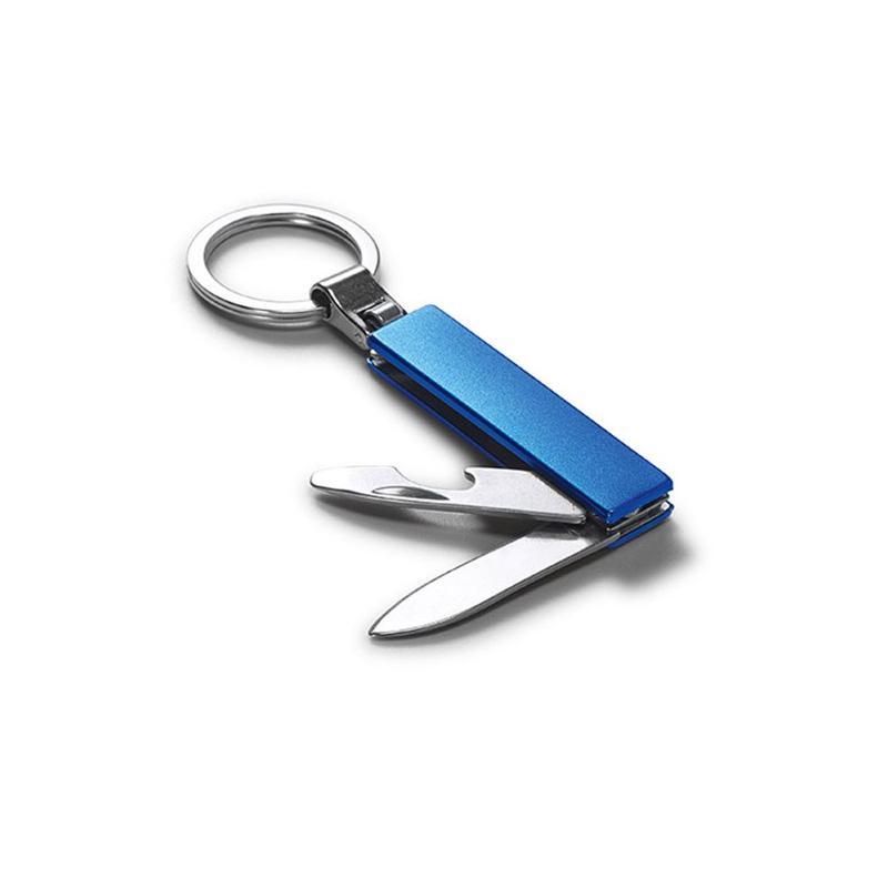 Porte-clés métal +couteau et décapsuleur - Porte-clés métal