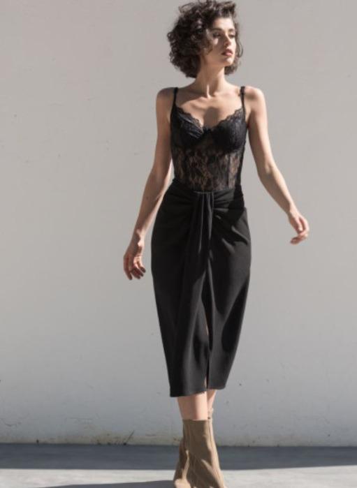 Body encaje - Body de encaje de mujer negro