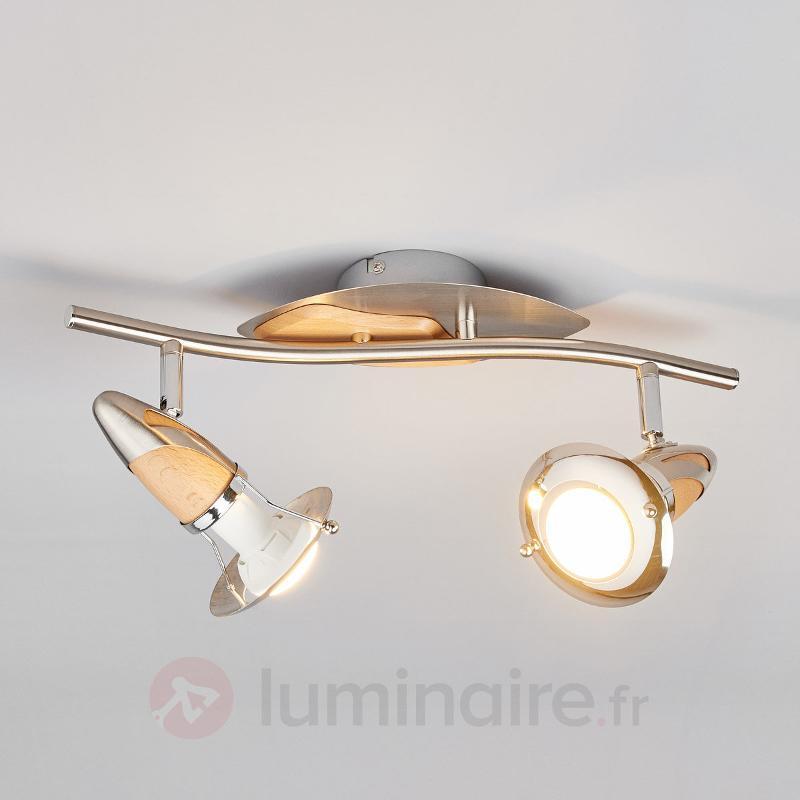 Spot LED Sharleen avec bois, E14 RA50 - Spots et projecteurs LED