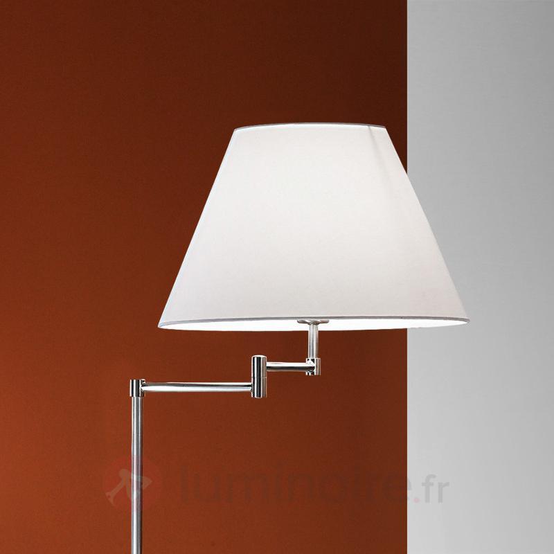 Noble lampadaire RIA, nickel mat - Lampadaires en tissu