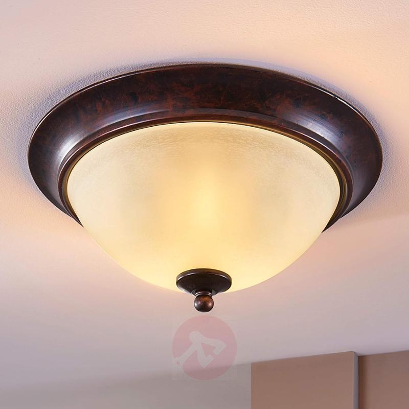 Ceiling light Svera with a rust finish - indoor-lighting