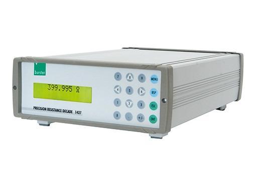 电阻十进位箱 - 1427 - 计算机控制,容错度0.005%,容错度0.02°C,RS232 / IEEE488