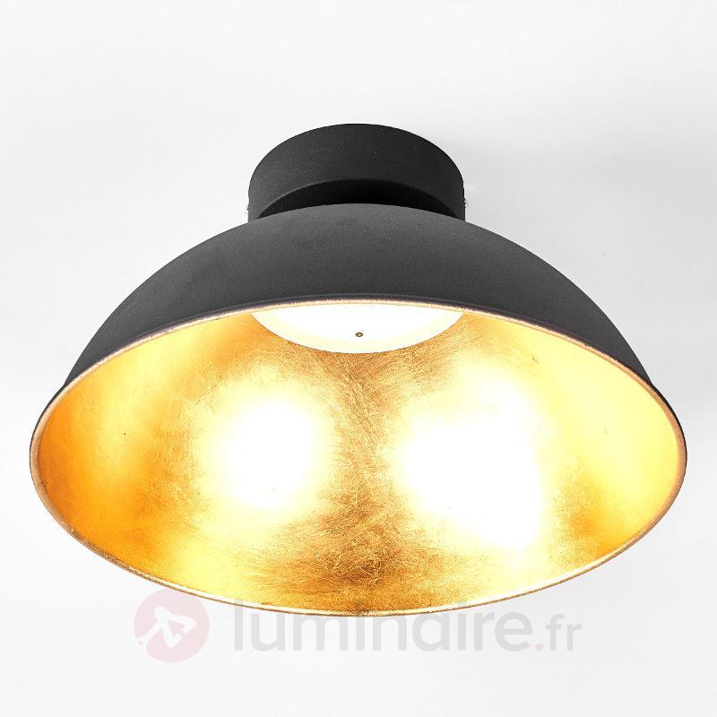 Plafonnier Stacy noir doré avec LED OSRAM - Plafonniers LED