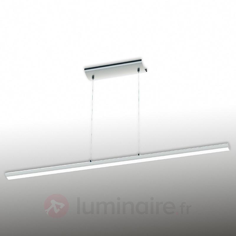 Suspension LED de couleur chrome Pellaro, dimmable - Suspensions LED