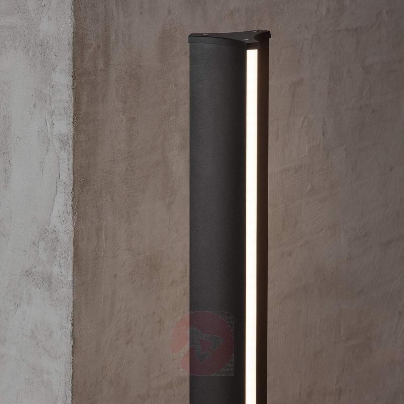 Black Titus path light with wonderful light effect - Path and Bollard Lights