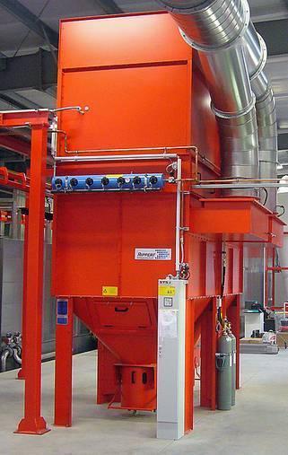 Powder filter - powder-coating