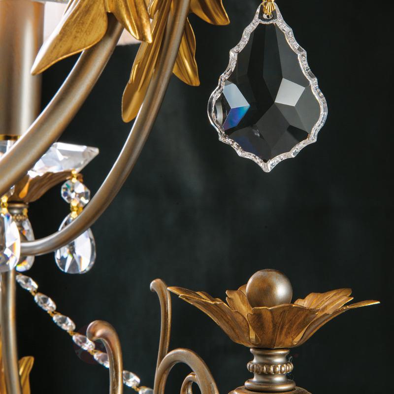 Lustre Miramare à 3 lampes, cristal de plomb - Lustres à abat-jour