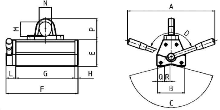 Aimants de levage permanents - Aimants de levage permanent MHM IT 60kg à 2.000kg