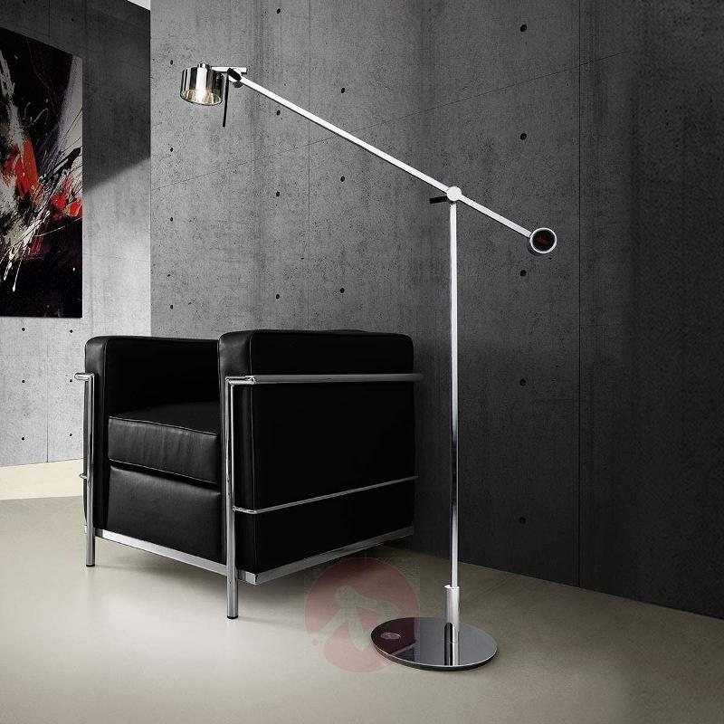 Chrome-plated floor lamp AX20 with dimmer - Floor Lamps
