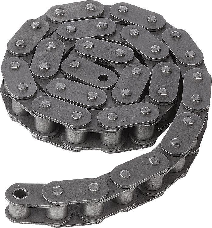 Chaînes à rouleaux simples DIN ISO 606, plaques droite - Chaînes et pignons