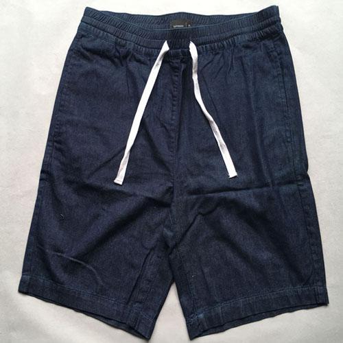 Men's denim shorts  Stonewashed blue jeans -