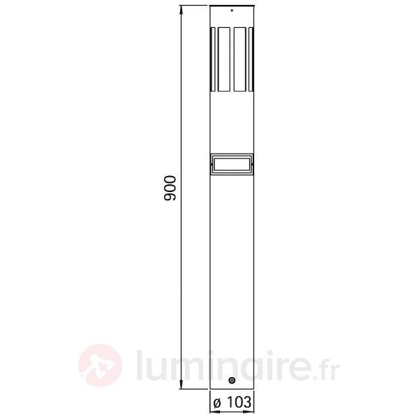 Borne lumineuse 475 ac détecteur mvment - Bornes lumineuses inox