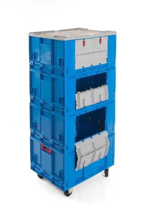 Módulo Roll-container - Caixas de plástico Rebatíveis